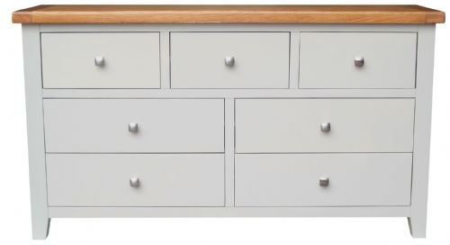 Malvern Grey 3 Over 4 Chest of Drawers
